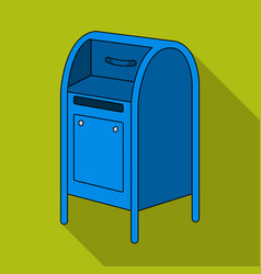 mailboxmail and postman single icon in flat style vector image vector image