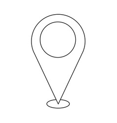 pin map location navigation gps concept vector image