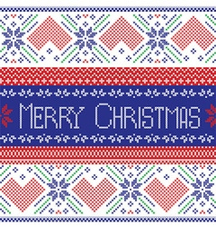 Scandinavian merry christmas seamless pattern vector