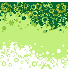 Shamrock Leaf background vector image vector image