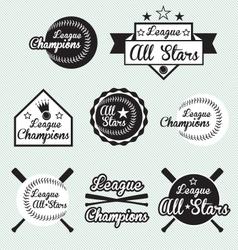 Baseball All Star Labels vector image vector image