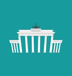 brandenburg gate landmark germany historic vector image