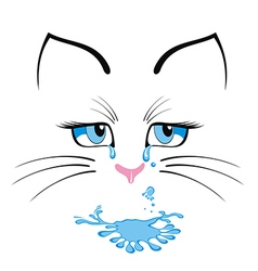 Cat cartoon character vector image vector image