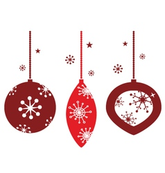 christmas decoration for retro party vector image vector image