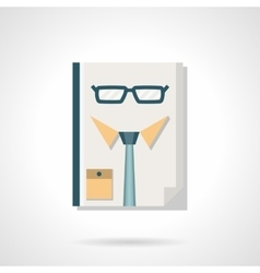 HR manager abstract flat color icon vector image vector image