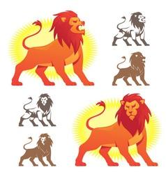 Lion Symbols vector image vector image