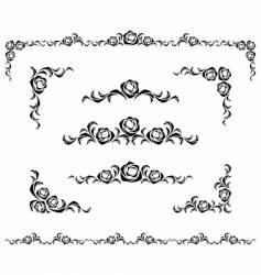rose ornament vector image vector image