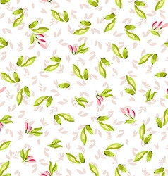 Seamless Pattern with little pink flowers vector image