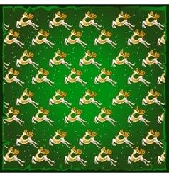 Texture of deer green background vector image