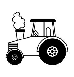 tractor farm vehicle icon vector image