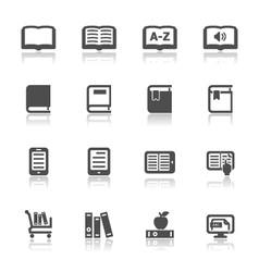 Book Icons with White Background vector image