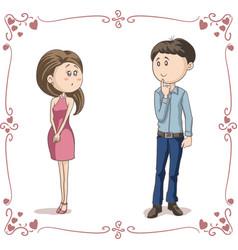 love at first sight cartoon vector image vector image