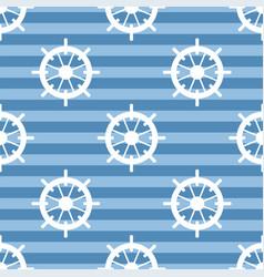 Tile sailor pattern with white rudder on navy blue vector
