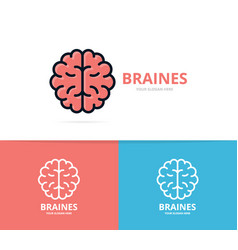 unique brain and mind logo design template unique vector image
