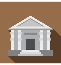 Colonnade icon flat style vector image vector image