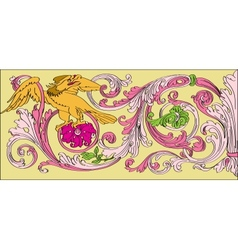 floral Baroque style vector image vector image