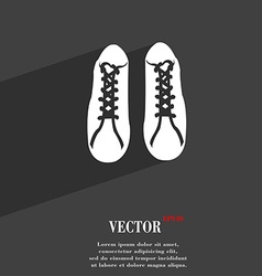 shoes symbol Flat modern web design with long vector image vector image