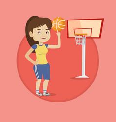 young basketball player spinning ball vector image vector image