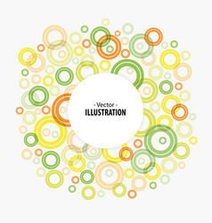 abstract bright circles background vector image