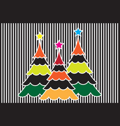 abstract christmas tree with colorful background vector image