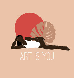 Art is you hand drawn lying vector