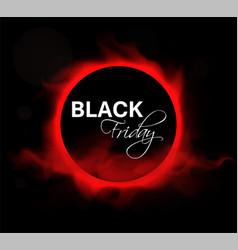 black friday sale layout background vector image