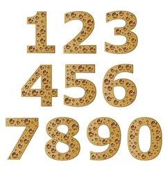 Bubble digits vector