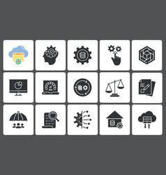 Business intelligence icon set vector