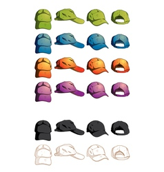 cap template various angle vector image