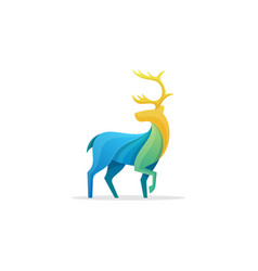 caribou full color concept design template vector image