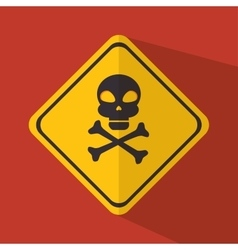 caution signal design vector image