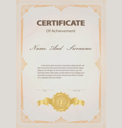 Certificate vintage style vector