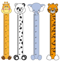 Children meter sticker wall vector image