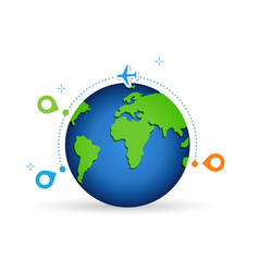 concept air travel international flights vector image