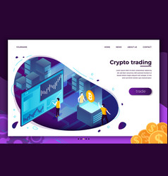 concept cryptocurrency trading process vector image