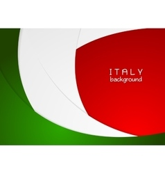 Corporate wavy bright abstract background Italian vector image
