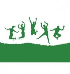 Dancing background vector