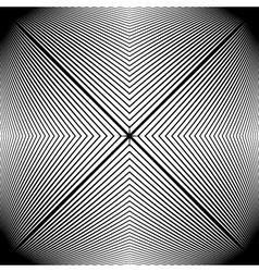 Design monochrome stripy geometric pattern vector