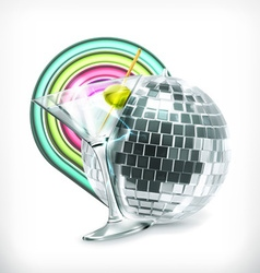 Disco icon vector