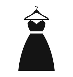 Dress on a hanger simple icon vector