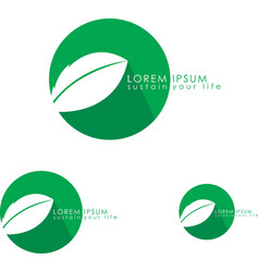 Eco friendly logo vector