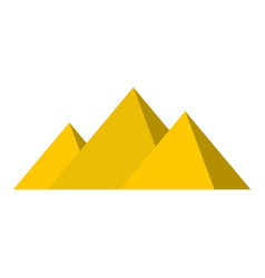 Egyptian giza pyramids icon isolated vector