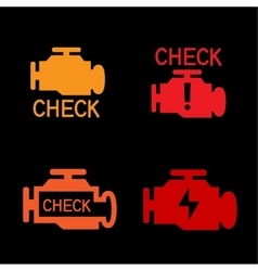 Engine check sign vector