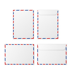 envelope a4 paper white blank letter envelopes vector image