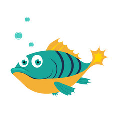 fish funny alphabet animal vector image