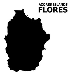 Flat map azores - flores island with vector