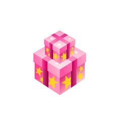 gift box isometric symbol design vector image
