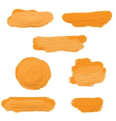 Gold acrylic paint smears 2604 vector