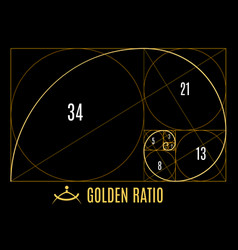 Golden proportions ratio guidelines vector