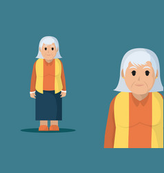grandmother cute cartoon vector image